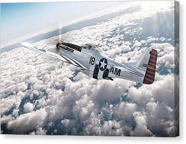 The P-51 Mustang Canvas Print by David Collins