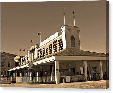 The Paddock At Churchill Downs In Sepia Tones Canvas Print by Marian Bell