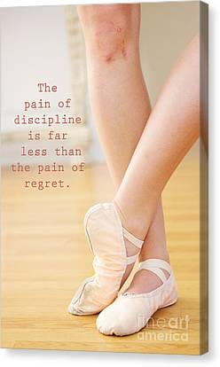 The Pain Of Discipline Canvas Print by Kim Fearheiley