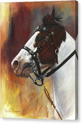 Canvas Print featuring the painting The Paint by Harvie Brown