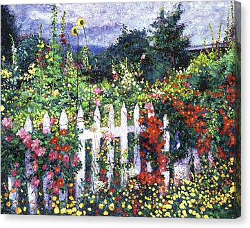 The Painter's Palette Garden Canvas Print by David Lloyd Glover