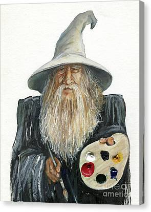 The Painting Wizard Canvas Print by J W Baker