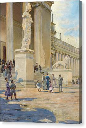Shadows And Light Canvas Print - The Palace Of Fine Arts  by Edwin Howland Blashfield