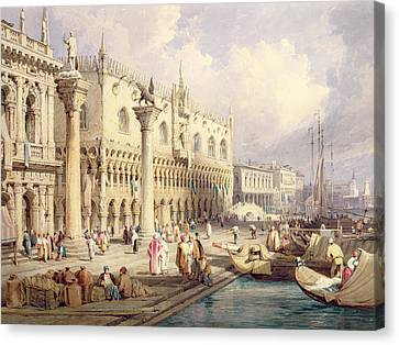 The Palaces Of Venice Canvas Print