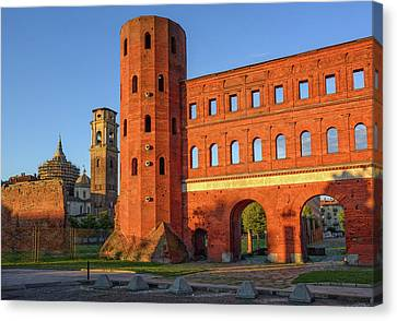 Palatina Canvas Print - The Palatine Towers And The Cathedral Of Turin, Turin, Italy by Boris Stroujko