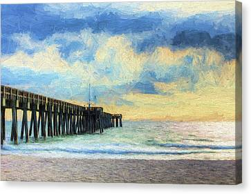 The Panama City Beach Pier Canvas Print by JC Findley