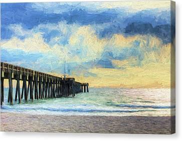 Panama City Beach Canvas Print - The Panama City Beach Pier by JC Findley