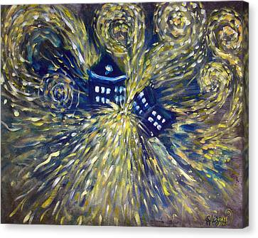 Explosion Canvas Print - The Pandorica Opens by Alizey Khan