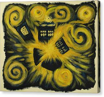 The Pandorica Opens Canvas Print by Lauren Cawthron