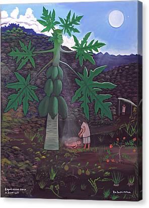 The Papaya Nourishes Life Canvas Print