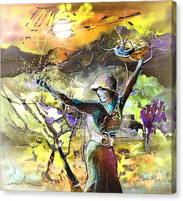 The Parable Of The Sower Canvas Print by Miki De Goodaboom