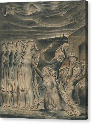 The Parable Of The Wise And Foolish Virgins Canvas Print by William Blake