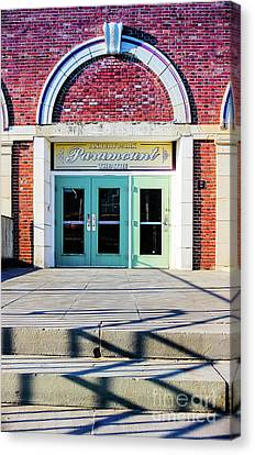 Canvas Print featuring the photograph The Paramount Theatre by Colleen Kammerer