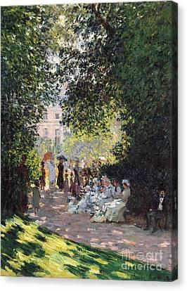 The Parc Monceau, 1878  Canvas Print by Claude Monet