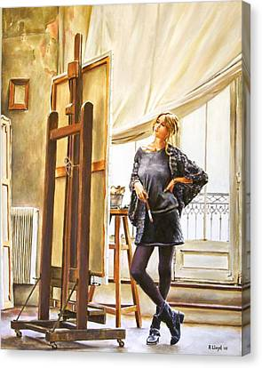 The Paris Studio Canvas Print by Andy Lloyd