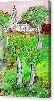 The Parish Curch Canvas Print by Loredana Messina