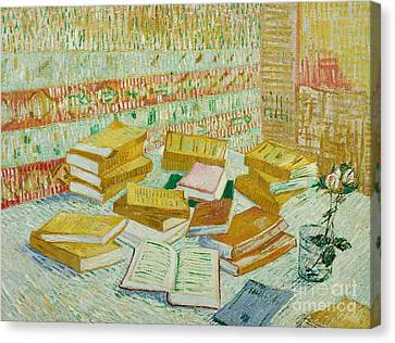 The Parisian Novels Or The Yellow Books Canvas Print by Vincent Van Gogh