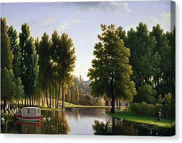 The Park At Mortefontaine Canvas Print by Jean Bidauld