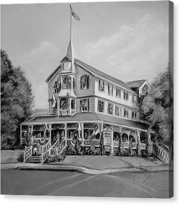 The Parker House Black And White Canvas Print