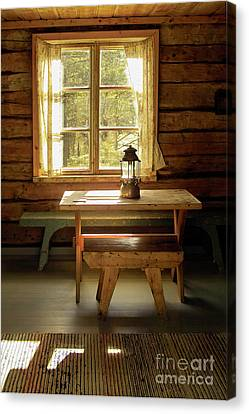 Log Cabin Canvas Print - The Parlour by Heiko Koehrer-Wagner