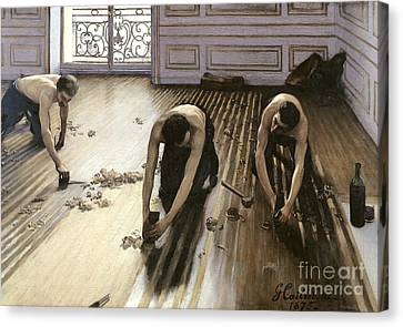 The Parquet Planers Canvas Print by Gustave Caillebotte
