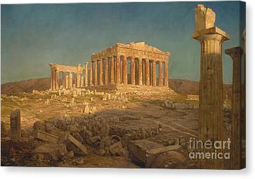 The Parthenon, 1871 Canvas Print by Frederic Edwin Church