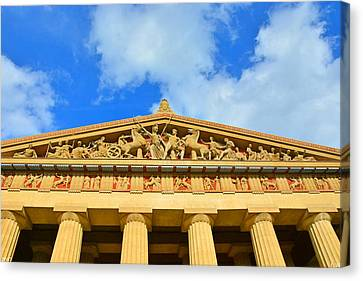 The Parthenon In Nashville Tennessee 2 Canvas Print by Lisa Wooten