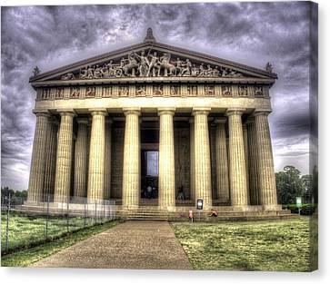 The Parthenon In Nashville V2 Canvas Print