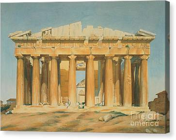 Ancient Greek Ruins Canvas Print - The Parthenon by Louis Dupre
