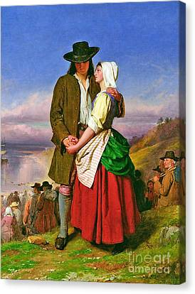 The Parting Of Evangeline And Gabriel Canvas Print by MotionAge Designs