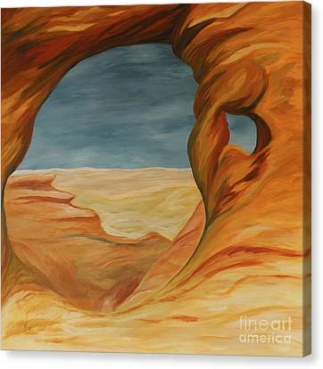 Canvas Print featuring the painting The Partition Arch by Christiane Schulze Art And Photography