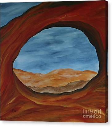 Canvas Print featuring the painting The Partition Arch II by Christiane Schulze Art And Photography