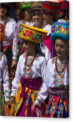 Troupe Canvas Print - The Pase Del Nino Parade Is World Famous by Al Bourassa