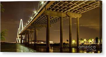 Island Stays Canvas Print - A Great Passageway Arthur Ravenel Jr Bridge Charleston South Carolina by Reid Callaway