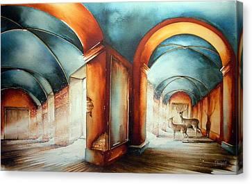 The Passengers Canvas Print by Fabien Petillion