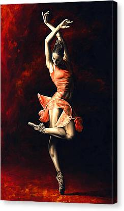 Light Canvas Print - The Passion Of Dance by Richard Young