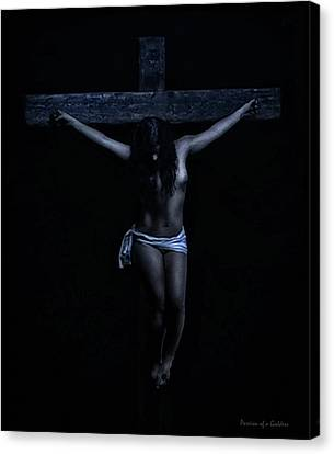 The Passion Of The Christa Canvas Print by Ramon Martinez