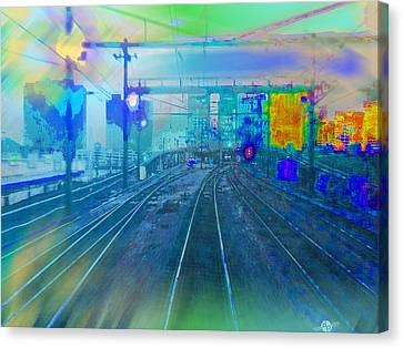 The Past Train 1 Canvas Print by Tony Rubino