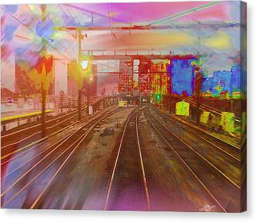 The Past Train 3 Canvas Print by Tony Rubino