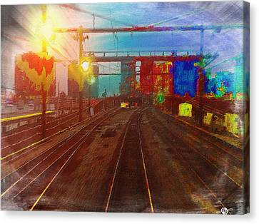 The Past Train 4 Canvas Print by Tony Rubino