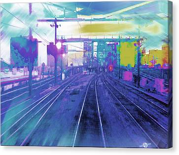 The Past Train 5.1 Canvas Print by Tony Rubino