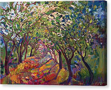 Of Color Canvas Print - The Path by Erin Hanson