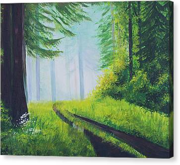 The Path In The Woods. Forest In Spring. Canvas Print by Elena Pavlova