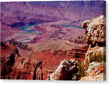 The Path Of The Colorado River Canvas Print by Susanne Van Hulst