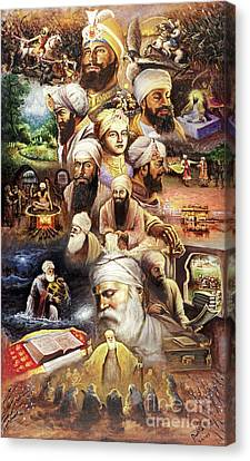 Sikh Art Canvas Print - The Path by Raman Singh