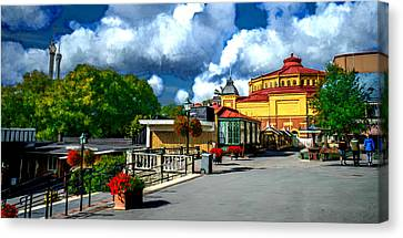 The Patio Canvas Print by Bruce Nutting