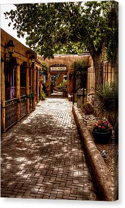 The Patio Market Canvas Print by David Patterson