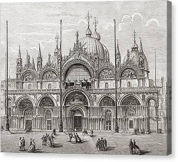 San Marco Canvas Print - The Patriarchal Cathedral Basilica Of by Vintage Design Pics