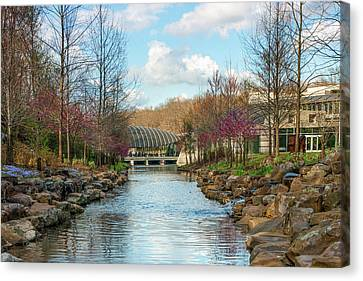 The Pavilion - Crystal Bridges Art Museum - Bentonville Arkansas Canvas Print by Gregory Ballos