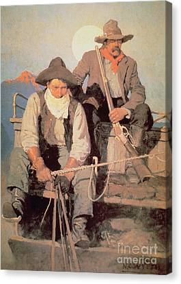 The Pay Stage Canvas Print by Newell Convers Wyeth